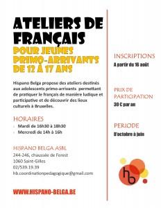 Flyer ateliers ados - Hispano Belga